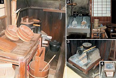 天保年間(1830~1844)の長屋の台所 天保年間(1830~1844)の長屋の台所 [1]流